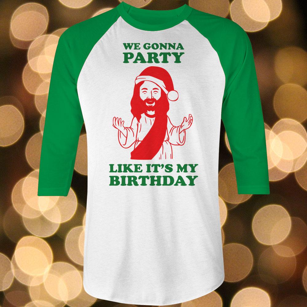 c92f5ea3a DemandVille | Jesus Birthday Party Baseball Shirt Sizes XS-3XL