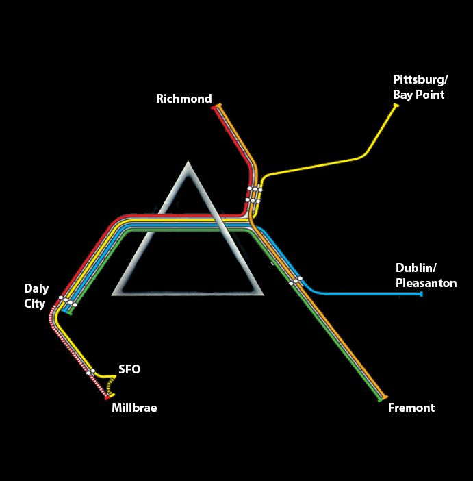 Dark Side Of The Moon Map on